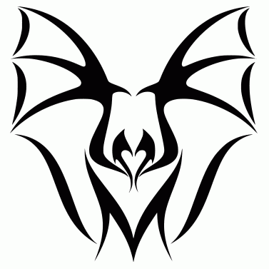 Tattoo design: Bat 1