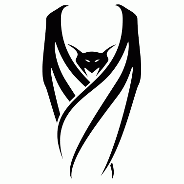 Tattoo design: Bat 2