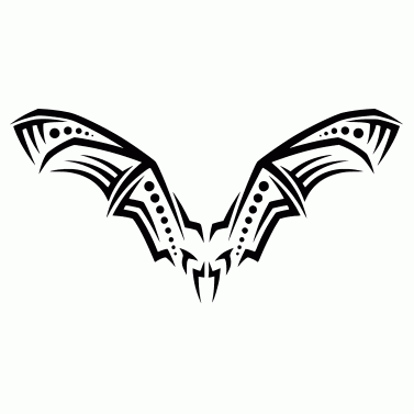 Tattoo design: Bat 5