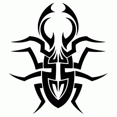 Tattoo design: Beetle 2