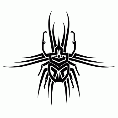 Tattoo design: Beetle 5