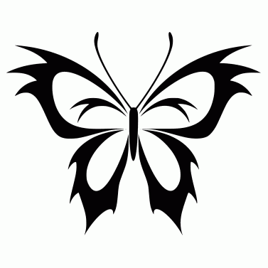 Tattoo design: Butterfly 12
