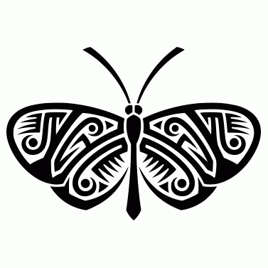 Tattoo design: Butterfly 17
