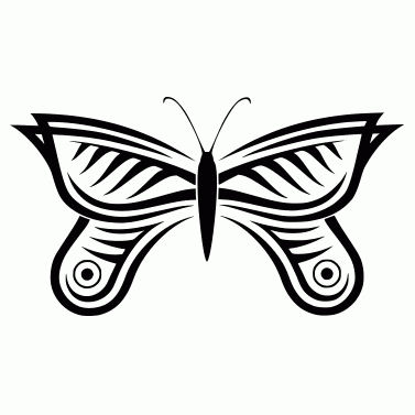 Tattoo design: Butterfly 3