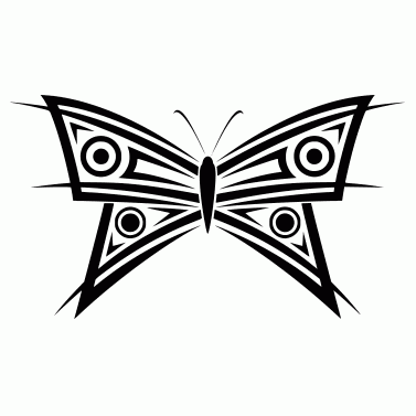 Tattoo design: Butterfly 4