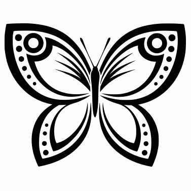 Tattoo design: Butterfly 7