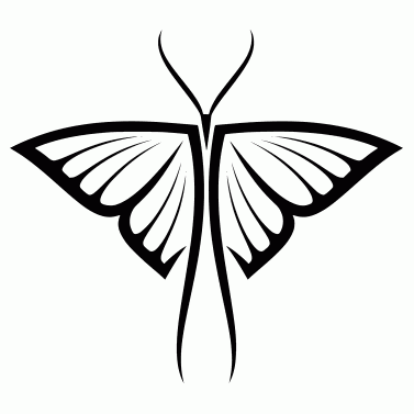 Tattoo design: Butterfly 9