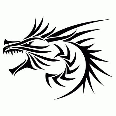 Tattoo design: Dragon 1