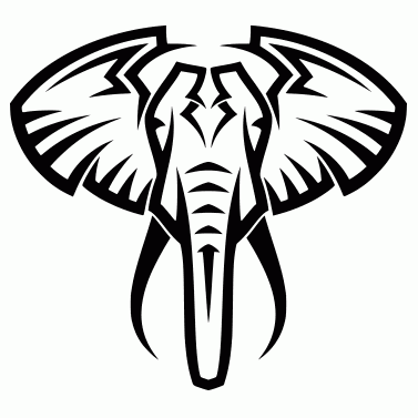 Tattoo design: Elephant 1