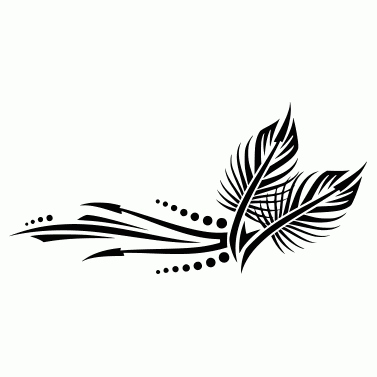 Tattoo design: Feather 2