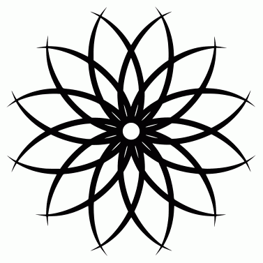 Tattoo design: Flower 1