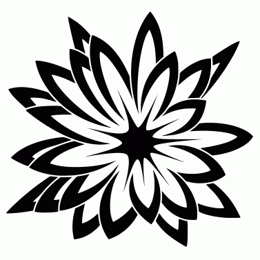 Tattoo design: Flower 7