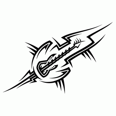 Tattoo design: Guitar 1