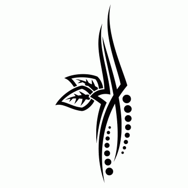 Tattoo design: Leaf 3