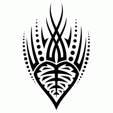 Tattoo design: Leaf 5