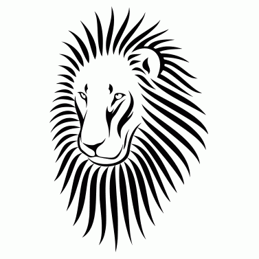 Tattoo design: Lion 3