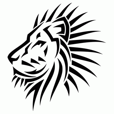 Tattoo design: Lion 4