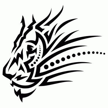 Tattoo design: Lion 5