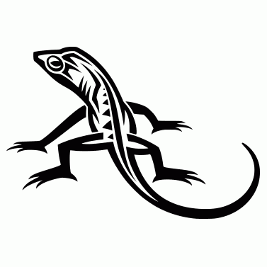 Tattoo design: Lizard 6