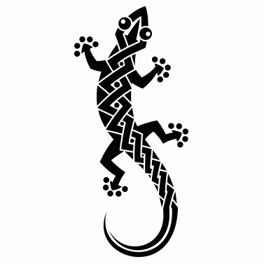 Tattoo design: Lizard 7