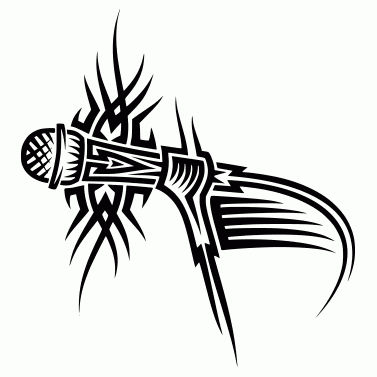 Tattoo design: Microphone 2