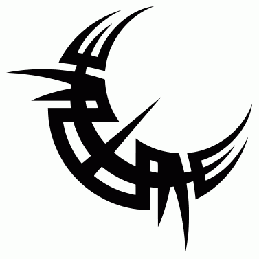 Tattoo design: Moon 3