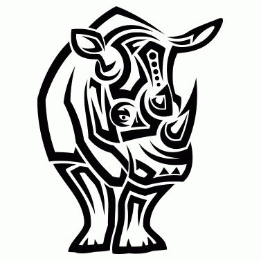 Tattoo design: Rhino 1