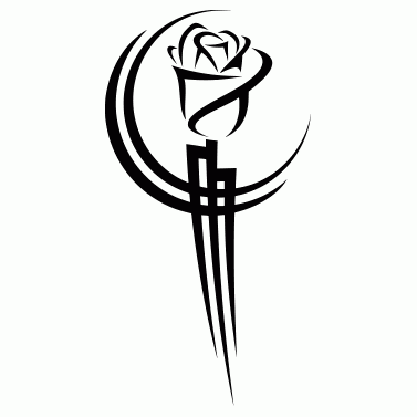 Tattoo design: Rose 4