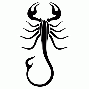Tattoo design: Scorpion 1