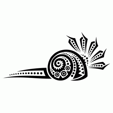 Tattoo design: Snail 1