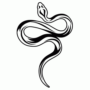 Tattoo design: Snake 1