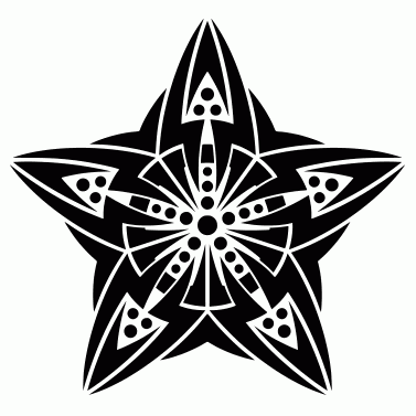 Tattoo design: Star 10