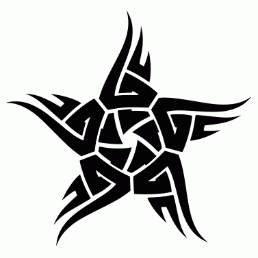 Tattoo design: Star 11