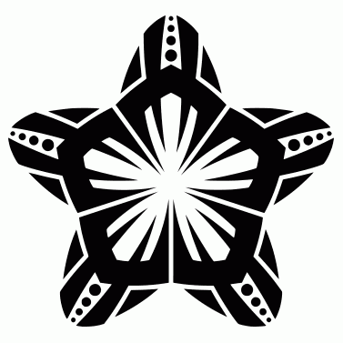 Tattoo design: Star 12