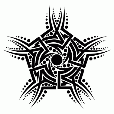 Tattoo design: Star 15