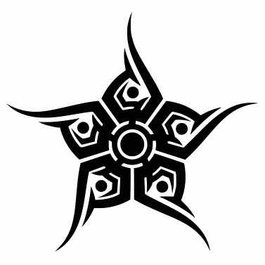Tattoo design: Star 5