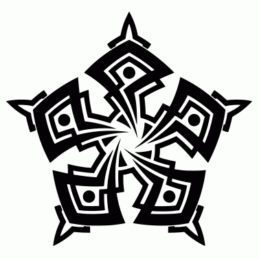 Tattoo design: Star 6