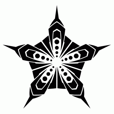 Tattoo design: Star 7
