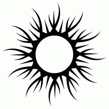 Tattoo design: Sun 12