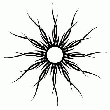 Tattoo design: Sun 13