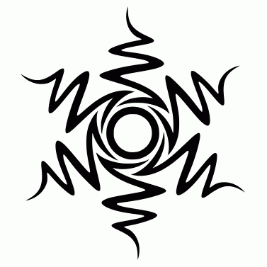 Tattoo design: Sun 17