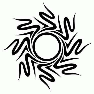 Tattoo design: Sun 18