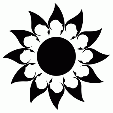 Tattoo design: Sun 24