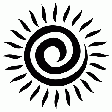 Tattoo design: Sun 25