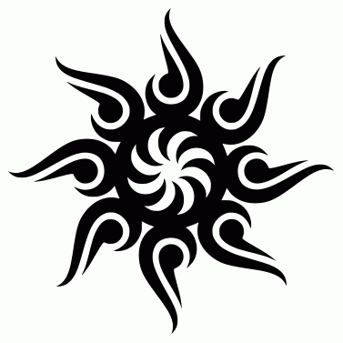 Tattoo design: Sun 30