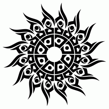 Tattoo design: Sun 32
