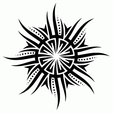 Tattoo design: Sun 38