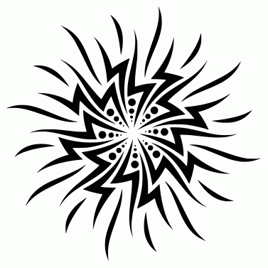 Tattoo design: Sun 39