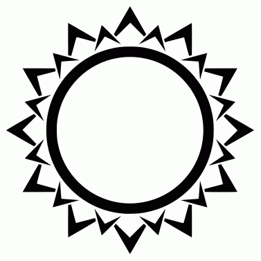 Tattoo design: Sun 4