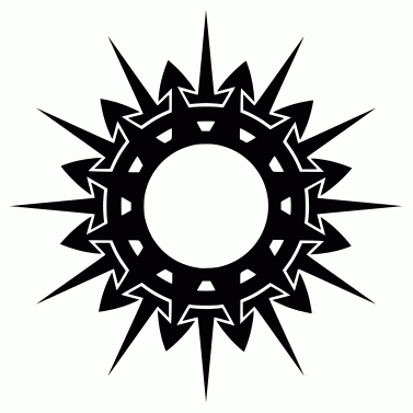 Tattoo design: Sun 6